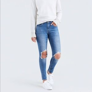 Levi's 721 high rise ripped skinny jeans